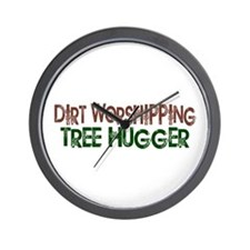Dirt Worshipping Tree Hugger Wall Clock