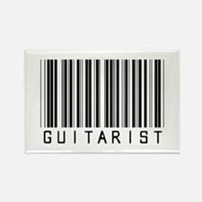 Guitarist Barcode Rectangle Magnet