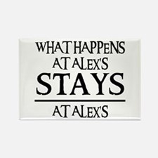 STAYS AT ALEX'S Rectangle Magnet