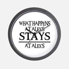 STAYS AT ALEX'S Wall Clock