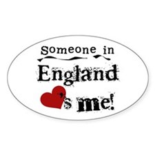 England Loves Me Oval Decal