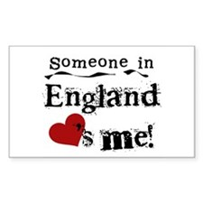 England Loves Me Rectangle Decal