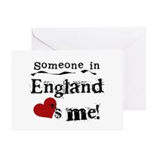 England Loves Me Greeting Card