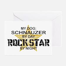 Schnauzer Rock Star Greeting Cards (Pk of 10)