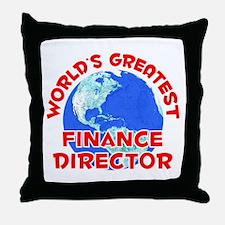 World's Greatest Finan.. (F) Throw Pillow