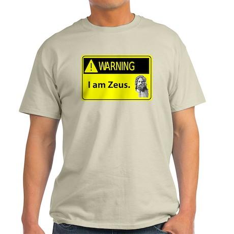 Warning: I Am Zeus Light T-Shirt