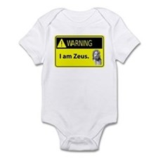 Warning: I Am Zeus Infant Bodysuit
