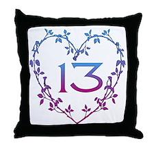 Thirteenth Birthday Throw Pillow