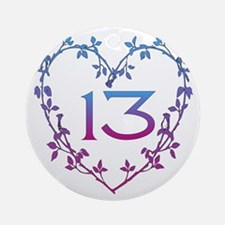 Thirteenth Birthday Ornament (Round)
