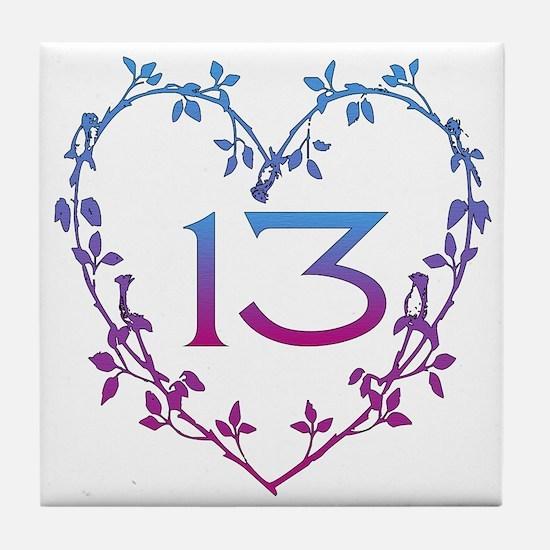 Thirteenth Birthday Tile Coaster