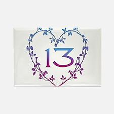 Thirteenth Birthday Rectangle Magnet