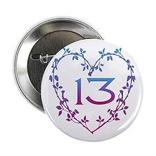 """Thirteenth Birthday 2.25"""" Button"""