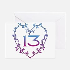 Thirteenth Birthday Greeting Card