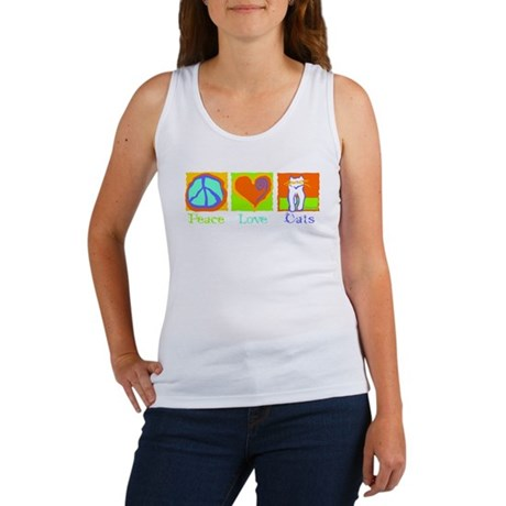 Peace Love Cats Women's Tank Top