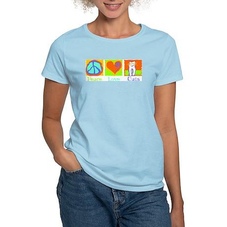Peace Love Cats Women's Light T-Shirt