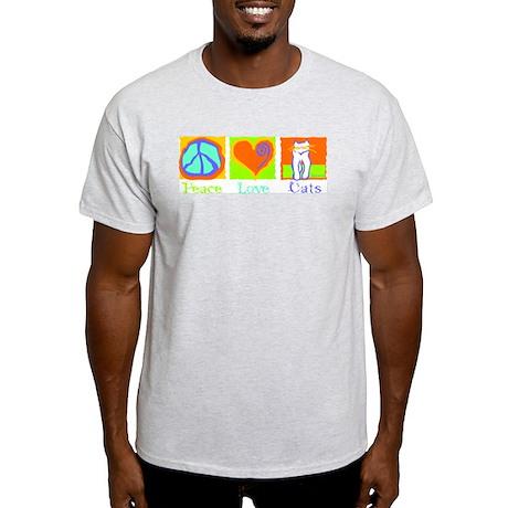 Peace Love Cats Light T-Shirt