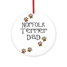 Norfolk Terrier Dad Ornament (Round)