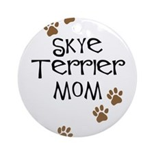 Skye Terrier Mom Ornament (Round)