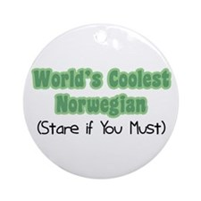 World's Coolest Norwegian Ornament (Round)