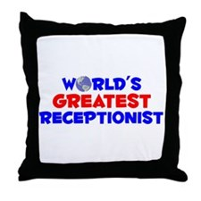 World's Greatest Recep.. (A) Throw Pillow