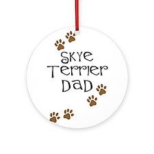 Skye Terrier Dad Ornament (Round)
