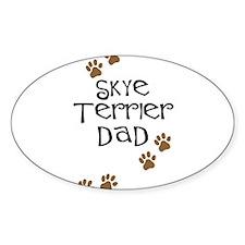 Skye Terrier Dad Oval Decal