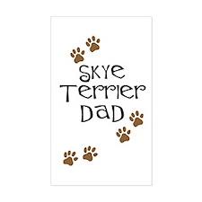 Skye Terrier Dad Rectangle Decal