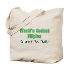 World's Coolest Filipina Tote Bag