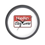 Clay Lover Nametag Wall Clock