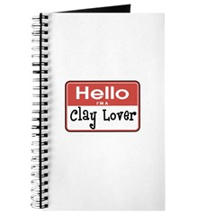 Clay Lover Nametag Journal