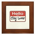 Clay Lover Nametag Framed Tile