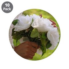 "Wedding Bouquet Photo 3.5"" Button (10 pack)"