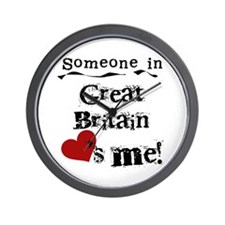 Great Britain Loves Me Wall Clock