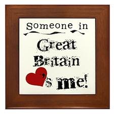 Great Britain Loves Me Framed Tile
