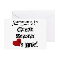 Great Britain Loves Me Greeting Card