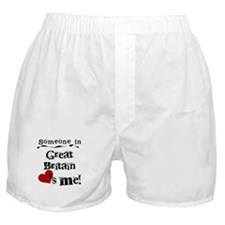 Great Britain Loves Me Boxer Shorts