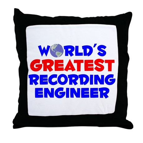 World's Greatest Recor.. (A) Throw Pillow