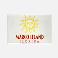 Marco Island Sun - Rectangle Magnet