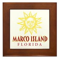 Marco Island Sun - Framed Tile