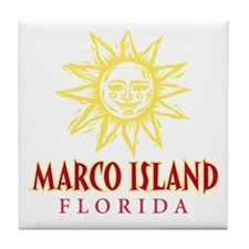 Marco Island Sun - Tile Coaster