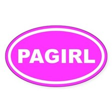 PA GIRL Pennsylvania Pink Euro Oval Decal