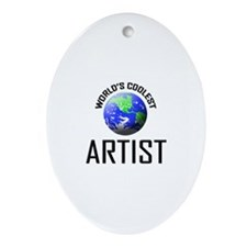 World's Coolest ARTIST Oval Ornament