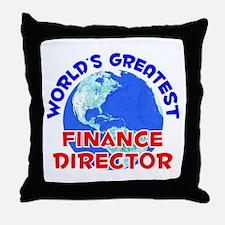 World's Greatest Finan.. (E) Throw Pillow