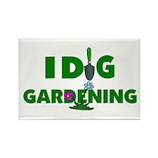 I Dig Gardening Rectangle Magnet