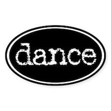 Dance Oval Bumper Stickers