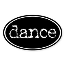 Dance Oval Decal