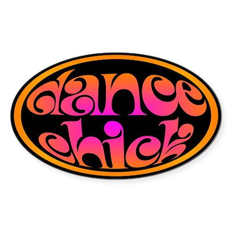 Dance Chick Oval Sticker