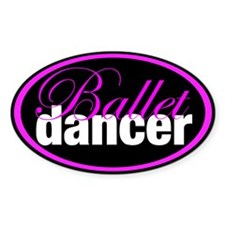 Ballet Dancer Oval Decal