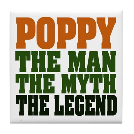 Poppy - The Legend Tile Coaster