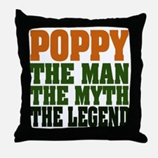 Poppy - The Legend Throw Pillow
